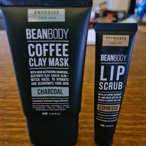 Bean body clay mask & lip scrub duo